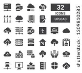 upload icon set. collection of... | Shutterstock .eps vector #1309810285