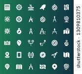 cartography icon set....   Shutterstock .eps vector #1309810375