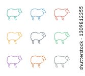 sheep icon white background.... | Shutterstock .eps vector #1309812355