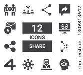 share icon set. collection of... | Shutterstock .eps vector #1309813642