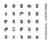 receiver icon set. collection... | Shutterstock .eps vector #1309813888