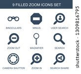 9 zoom icons. trendy zoom icons ... | Shutterstock .eps vector #1309816795