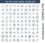 100 game icons. trendy game... | Shutterstock .eps vector #1309816798