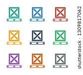 cargo on palette icon white... | Shutterstock .eps vector #1309817062