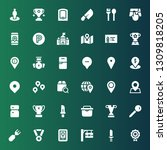 place icon set. collection of...