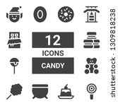 candy icon set. collection of... | Shutterstock .eps vector #1309818238