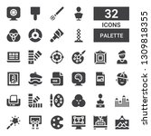 palette icon set. collection of ... | Shutterstock .eps vector #1309818355