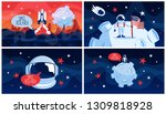 space exploration and travel in ...   Shutterstock .eps vector #1309818928