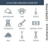 ground icons. trendy 9 ground...   Shutterstock .eps vector #1309819948