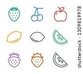juicy icons. trendy 9 juicy...   Shutterstock .eps vector #1309819978