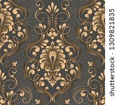 vector damask seamless pattern... | Shutterstock .eps vector #1309821835