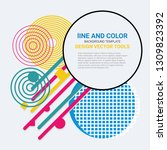 vector of abstract geometric... | Shutterstock .eps vector #1309823392