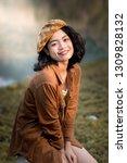beauty asian woman traveler at...   Shutterstock . vector #1309828132