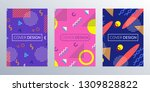 cover design template with... | Shutterstock .eps vector #1309828822