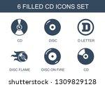 6 cd icons. trendy cd icons... | Shutterstock .eps vector #1309829128