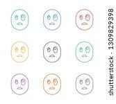 surprised emot icon white... | Shutterstock .eps vector #1309829398