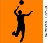 volleyball player   Shutterstock .eps vector #1309830