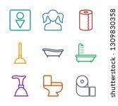 toilet icons. trendy 9 toilet... | Shutterstock .eps vector #1309830358