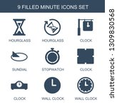minute icons. trendy 9 minute... | Shutterstock .eps vector #1309830568