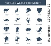 wildlife icons. trendy 16... | Shutterstock .eps vector #1309831432