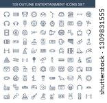 100 entertainment icons. trendy ... | Shutterstock .eps vector #1309831555