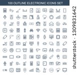 electronic icons. trendy 100... | Shutterstock .eps vector #1309831642