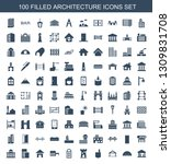 architecture icons. trendy 100... | Shutterstock .eps vector #1309831708