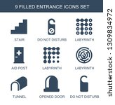 entrance icons. trendy 9... | Shutterstock .eps vector #1309834972