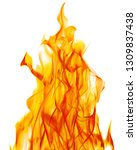 yellow flame isolated on white... | Shutterstock . vector #1309837438