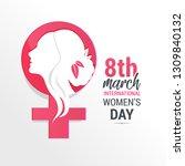 international women's day poster | Shutterstock .eps vector #1309840132