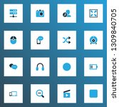 multimedia icons colored set... | Shutterstock .eps vector #1309840705