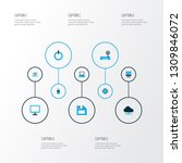 hardware icons colored set with ... | Shutterstock .eps vector #1309846072