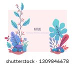 floral design template with... | Shutterstock .eps vector #1309846678