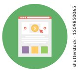 cost per impression isolated... | Shutterstock .eps vector #1309850065