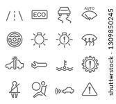 car dashboard vector line icon... | Shutterstock .eps vector #1309850245