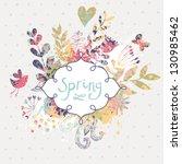 Spring Floral Design Element....