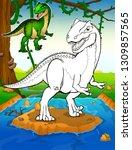 Coloring Dinosaurs. Allosaurus...