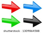 colored next 3d arrows. vector... | Shutterstock .eps vector #1309864588