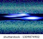 virtual technology  blue color...   Shutterstock .eps vector #1309874902