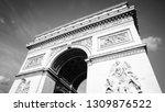 paris black and white.... | Shutterstock . vector #1309876522