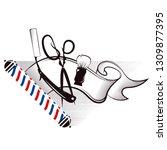 barbershop and hair salon...   Shutterstock .eps vector #1309877395