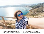 travel  vacation and holiday... | Shutterstock . vector #1309878262