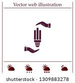 light bulb energy saving ... | Shutterstock .eps vector #1309883278