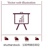 infographics on the stand ... | Shutterstock .eps vector #1309883302