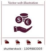 money  coins  stateroom vector... | Shutterstock .eps vector #1309883305