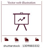 infographics on the stand ... | Shutterstock .eps vector #1309883332