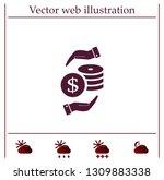 money  coins  stateroom vector... | Shutterstock .eps vector #1309883338