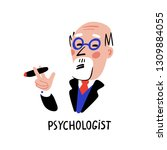 psychology. psychologist. man... | Shutterstock .eps vector #1309884055