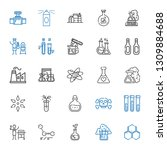 chemical icons set. collection... | Shutterstock .eps vector #1309884688