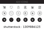 add icons set. collection of... | Shutterstock .eps vector #1309886125
